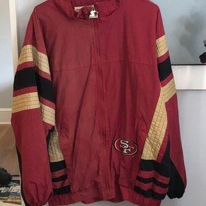 49ers vintage starter jacket